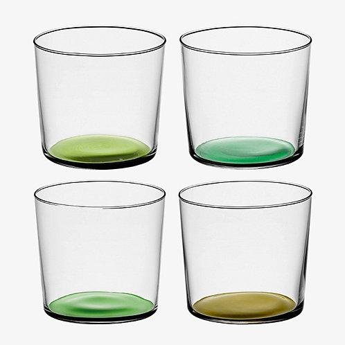 """Set de 4 verres colorés vert """"Coro"""" - LSA International"""