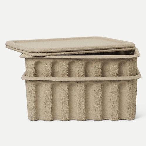 Paper pulp box - large -set de 2 - Ferm Living
