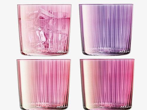 """Set de 4 verres colorés rose """"Gems"""" - LSA International"""