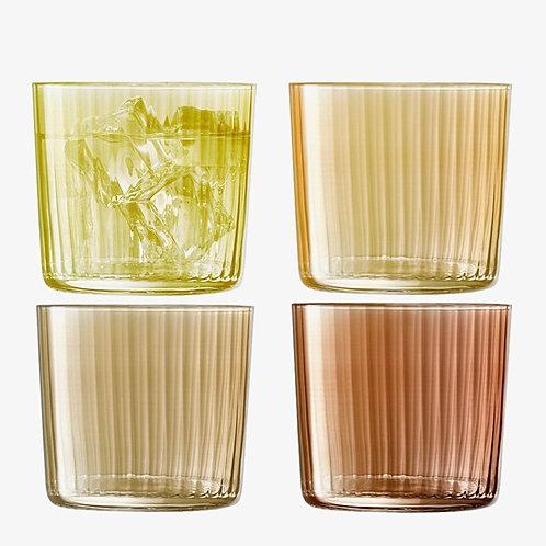 """Set de 4 verres colorés ambre """"Gems"""" - LSA International"""