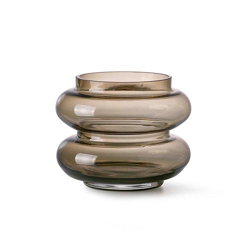 Vase coloré brun - Small - HK Living