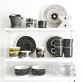 Marimekko - Oiva dishes - string shelf.j