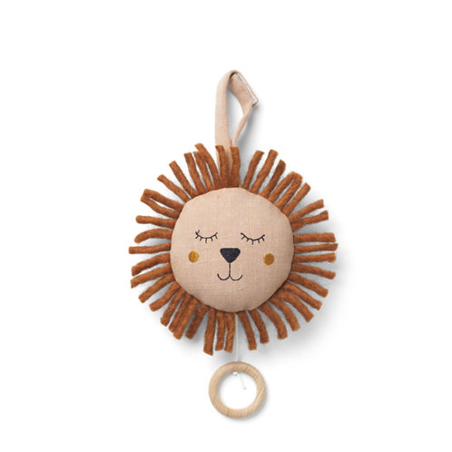 "Mobile pour enfant Lion en ""dusty rose"" - Ferm Living"