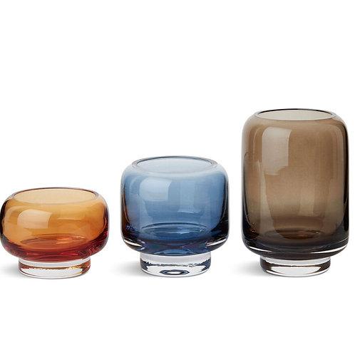 "Set de 3 photophores/vase ""Stack"" - Warm Nordic"