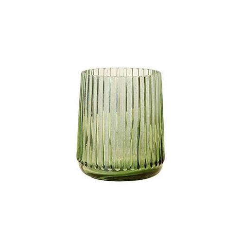 Vase en verre vert AGL4411  - HK Living