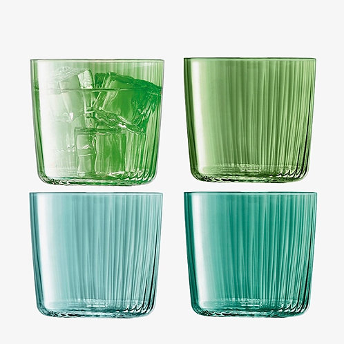 "Set de 4 verres colorés vert ""Gems"" - LSA International"