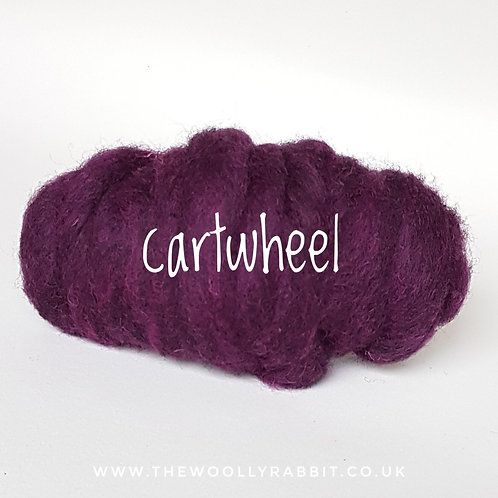 Galaxy Melange carded Corridale sliver in Cartwheel