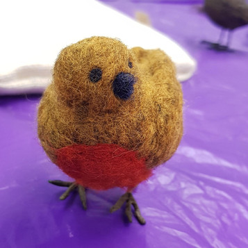 needle felted robin workshop