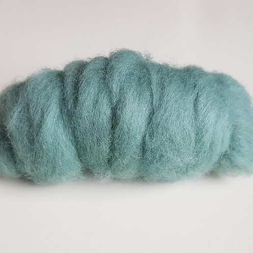 Carded Corridale Sliver in Teal