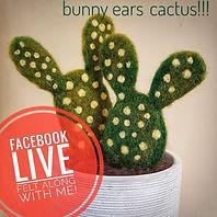 bunny ears cactus needle felt tutorial
