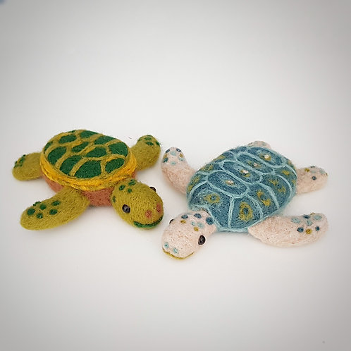 Needle Felted Turtles PDF instructions DOWNLOAD ONLY