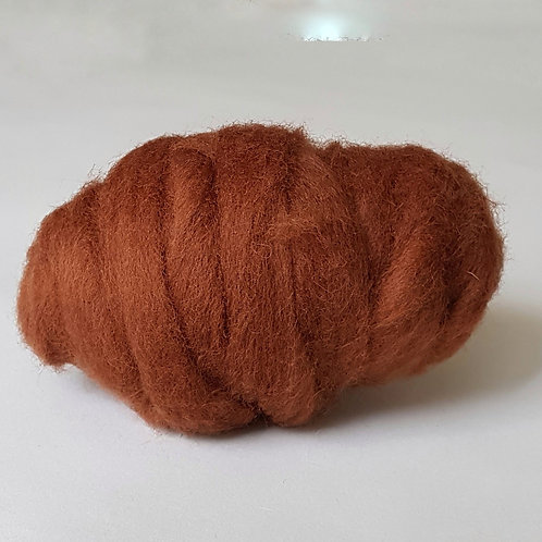 Carded Corridale Sliver in Sienna