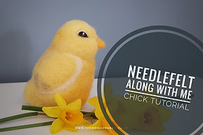 Needle felted chick tutorial