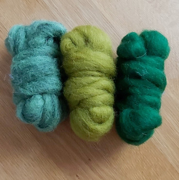 Christmas Bumper pack carded wools - gre