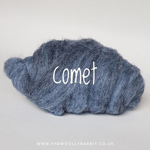 Galaxy Melange carded Corridale sliver in Comet