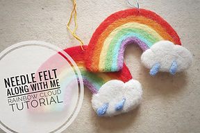 needle felted rainbow tutorial