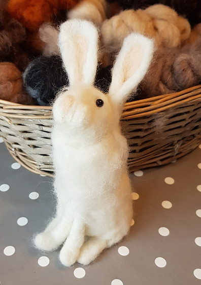 needle felted rabbit workshop