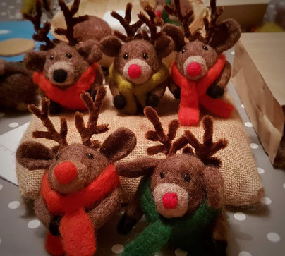 Needle felted Rudolph workshop
