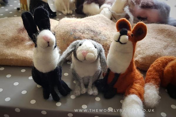 needle felted animals workshop