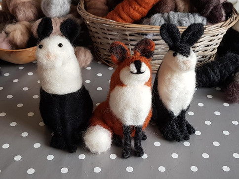 needle felted workshop