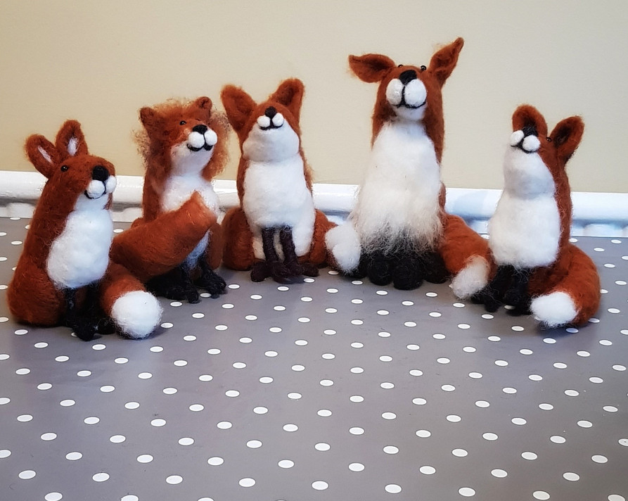 needle felted fox workshop bristol