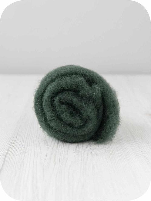 Carded New Zealand wool in Fir
