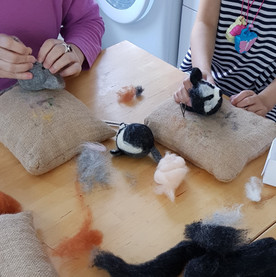 kids needle felted party