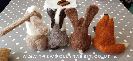needle felted woodland animal workshop