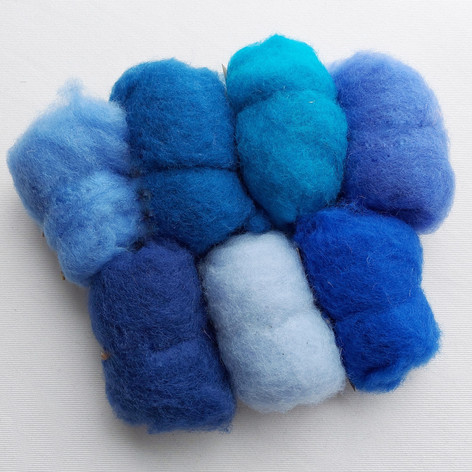 New Zealand carded wool shade pack  The