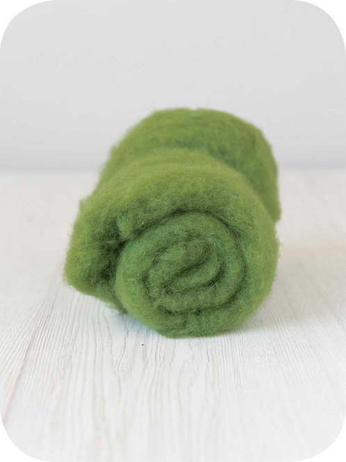 Carded New Zealand wool in Leaf