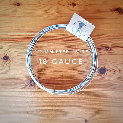 1.2 mm steel wire  SWG 18g (2.5 meters approx)