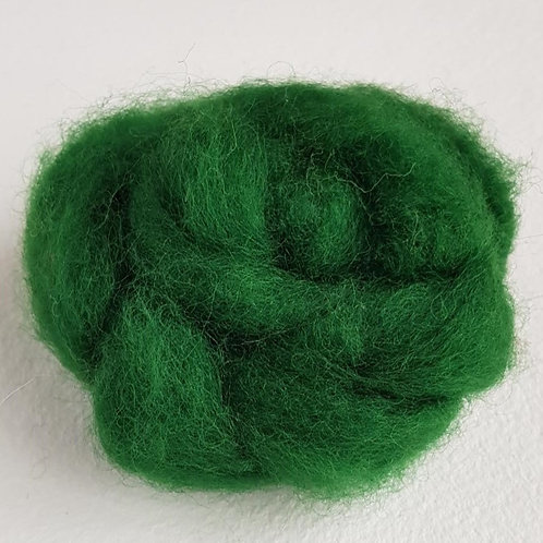 Carded Corridale Sliver in Forest Green