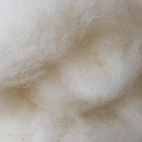Carded Corridale Batt in white