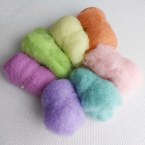 New Zealand carded wool pastels shade pa