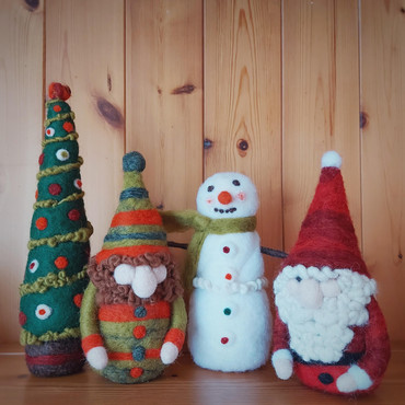 needle felted christmas decorations The
