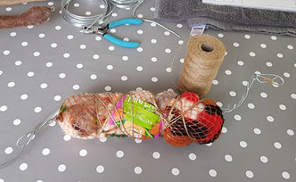 using plastic waste in a woolly sculptur