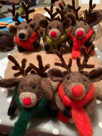 Needle felted Rudolph workshop