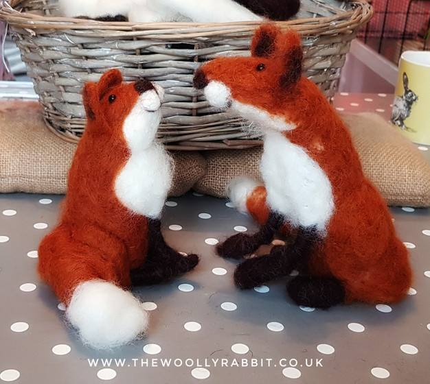 needle felted foxes workshop