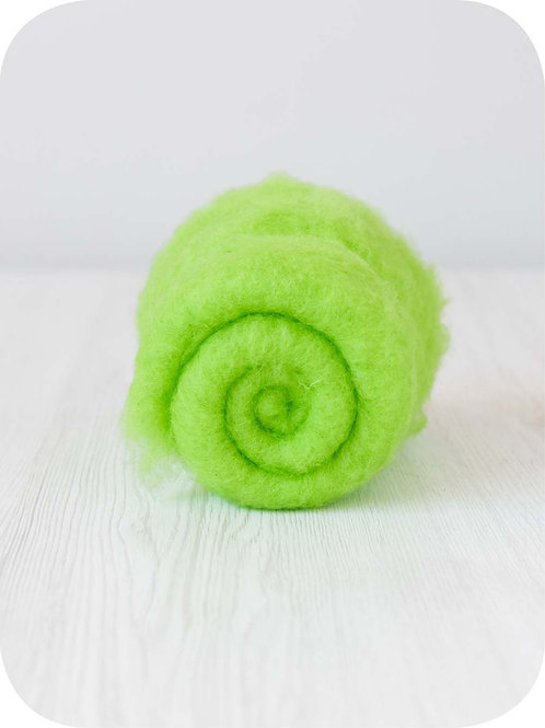 Carded New Zealand wool in Mint