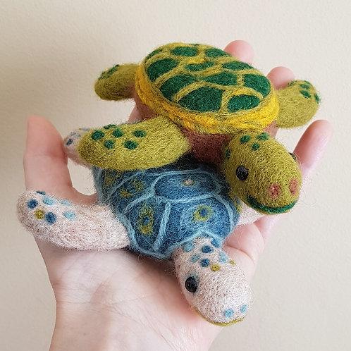 Needle Felted Turtles kit (makes 2)