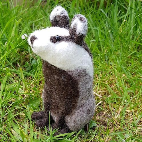 PDF Needle Felted Badger Instructions