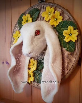 English lop- - needle felted bunny portr