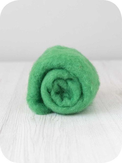 Carded New Zealand wool in Meadow