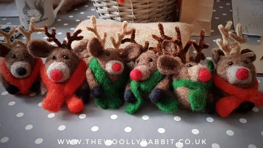 Needle felted Rudolph workshop private b