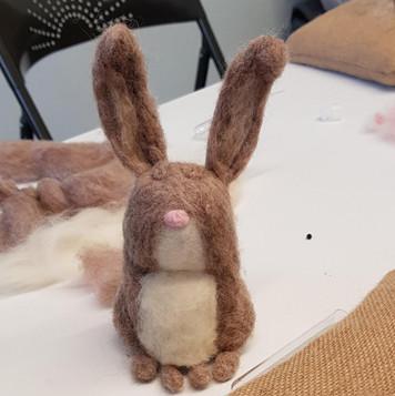 needle felted rabbit workshop