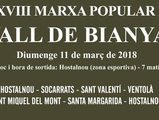 XXXVIII Marxa Popular de la Vall de Bianya