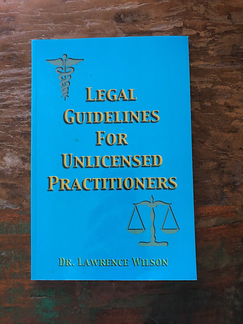 Book: Legal Guidelines for Unlicensed Practitioners