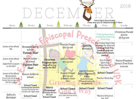 December Calendar of Events