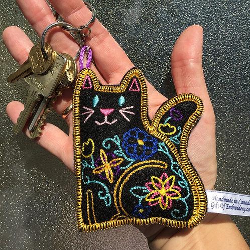 Cat Stuffie Keychain