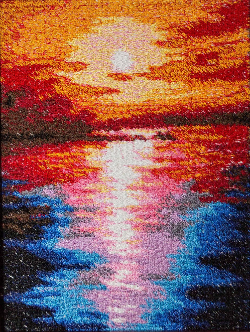 "Embroidered picture ""The Sunrise"""
